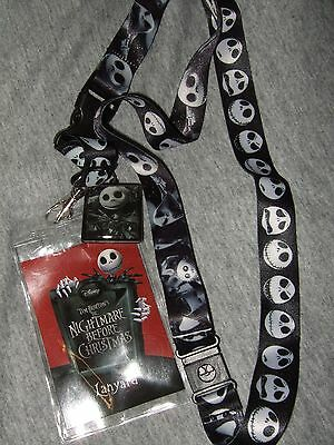 New The Nightmare Before Christmas Jack Faces Charm Lanyard ID Pin Holder Disney