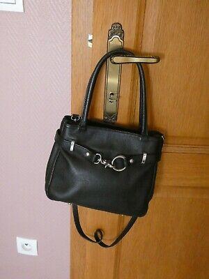 Beau petit sac a main noir en cuir