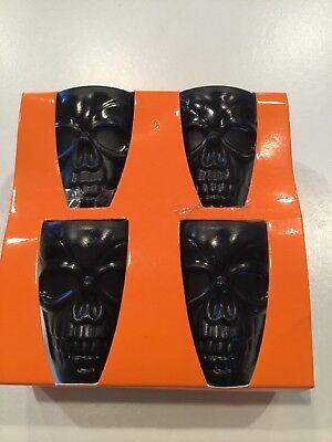4 Pack Of Black Skeleton Halloween Shot Glasses - Shot Halloween