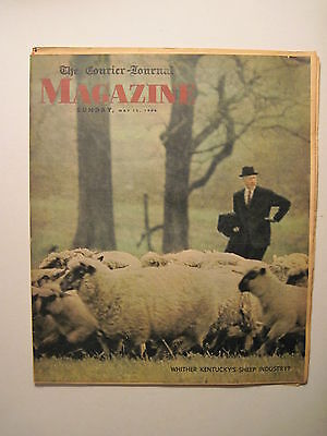 Louisville Courier Journal Magazine 5 15 1966  Sheep Industry  Lamb Recipes