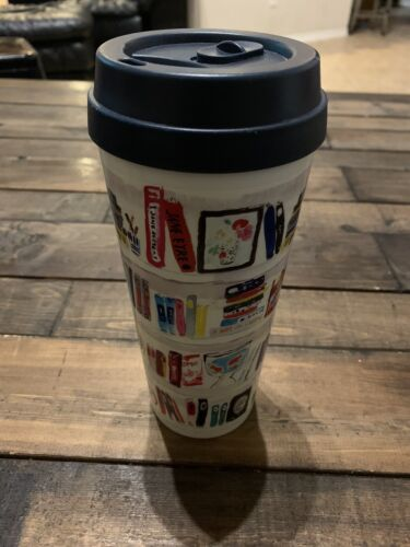 Kate Spade Lidded Tumbler with Straw Large 20oz Travel Cup L