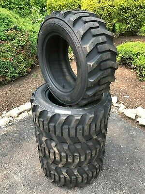 4 New Galaxy Xd2010 Skid Steer Tires-27x10.5-15-for Bobcat Case And More