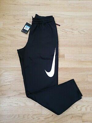 Men's Nike Therma Swoosh Training Dri Fit Pants Tapered AQ2715 Black Medium NEW