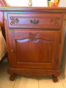 Antique reproduction solid Mahogany bedroom suite
