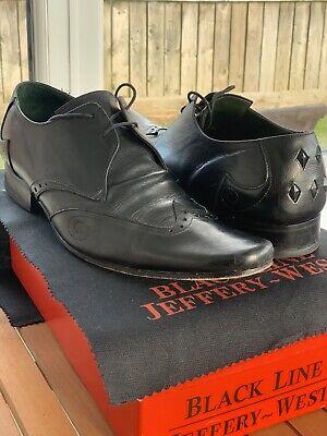 Jeffery West Black Line Black Lace Shoes (Size 10)