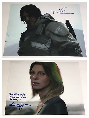 Norman Reedus DEATH STRANDING Signed SET OF TWO 11x14 Photos Autograph PROOF