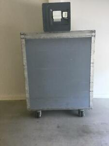 Qantas Airline Galley Cart Trolley Full Size With Atlas Box