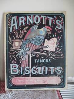 VINTAGE Collectable ARNOTT'S Famous BISCUITS Sign 48cm x 61cm Queenstown Port Adelaide Area Preview