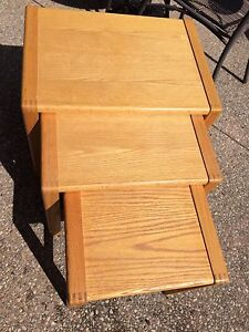 Vintage mid century nesting tables Nordic furniture