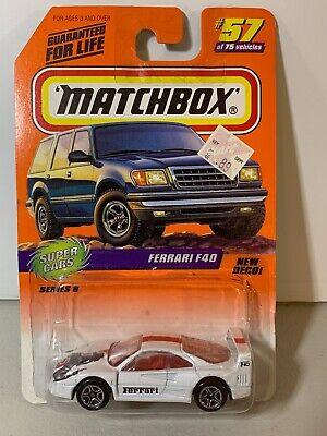 MATTEL MATCHBOX FERRARI F40 - Super Cars - #57 - New in Package - White