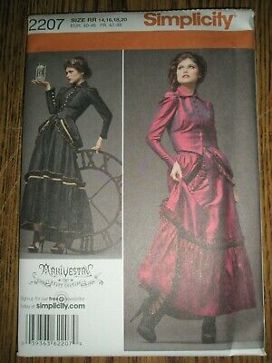 Simplicity 2207 Misses' Victorian Industrial Steampunk Costume Size RR 14-20 FF