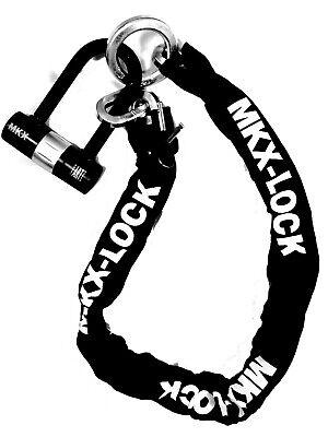 Gebraucht, MKX Kettenschloß Schloß 120cm Motorrad Quad ATV Diebstahl Sichern gebraucht kaufen  Neuwied
