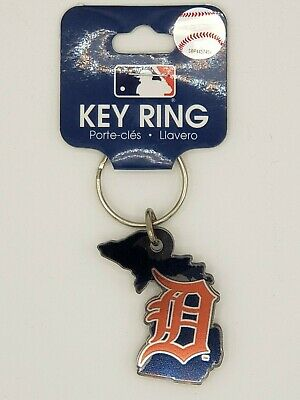 Wincraft MLB Detroit Tigers State Shaped Acrylic Keychain Delivery 2-4 Days