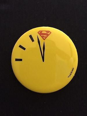 2017 SDCC Comic Con Exclusive DC Superman vs Watchmen Doomsday Clock Button