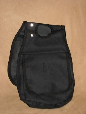 Western Trail Horse Saddle Horn Bag Velcro Closure Trail Riding BLACK - New Tack