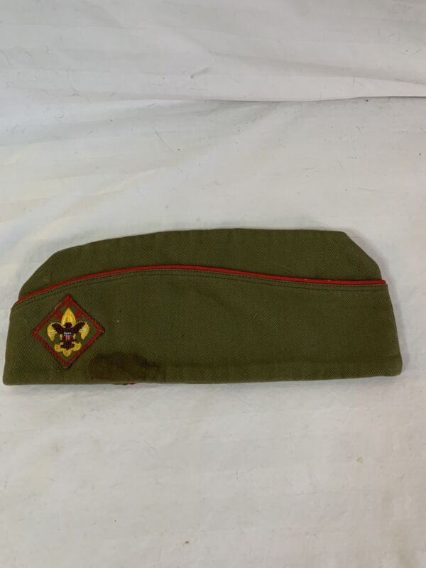 Vintage - 1960s Boy Scouts Of America - Garrison HAT CAP ~ Medium