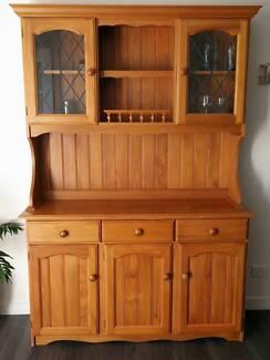 Timber wall unit / buffet hutch   Buffets & Side Tables   Gumtree ...