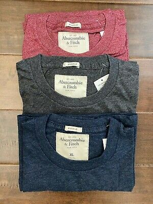 New Abercrombie & Fitch Men's Crewneck T-Shirt with Front Pocket, Size XL
