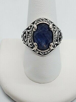 Carolyn Pollack Relio Sterling Silver Signature Gemstone Doublet Ring Size 10
