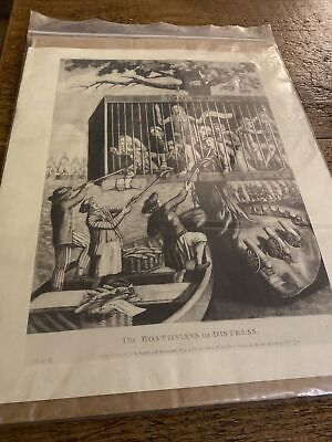 The Bostonians In Distress Vintage Print 11.5x14in Sawyer And Bennett London