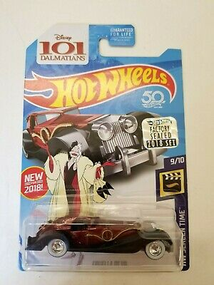 Hot Wheels Cruella De Vil Red 2018 Super Treasure Hunt Factory Sealed NEW