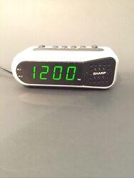 Sharp SPC100D Digital Ascending Dual Alarm Clock Battery Backup 9min Snooze