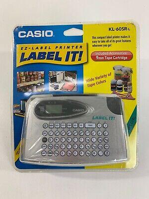 New Casio Kl-60 Ez Thermal Label Maker Printer Kl-60sr-l Cassette Tape