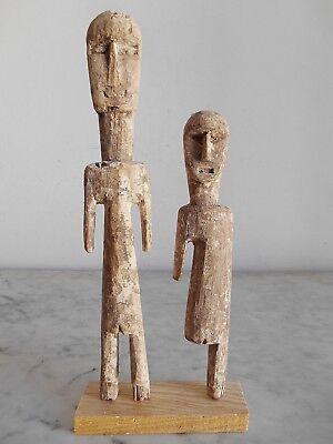 Lot of 2 Statuettes Aklama Adan Ade Ada Accepted Ewe Art Tribale