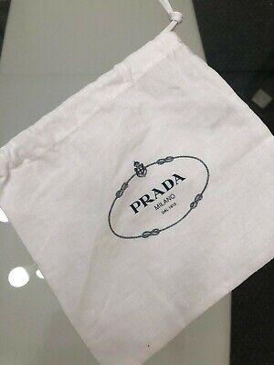 PRADA Empty Little White Dust Bag/Duster