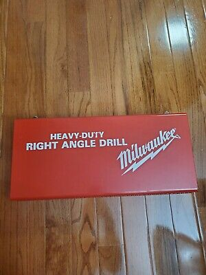 Milwaukee Heavy Duty Right Angle Drill Kit 1107-1 Only Used Once