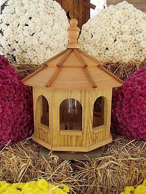 Wood Gazebo Amish Homemade Handcrafted Handmade Bird Feeder