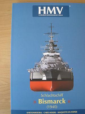 Bismarck Schlachtschiff Sonderauflage  Kartonbausatz *NEU* Kartonmodell HMV