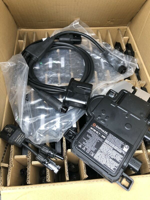5 Enphase M190 IQ7 - 240 microinverters W/adapters