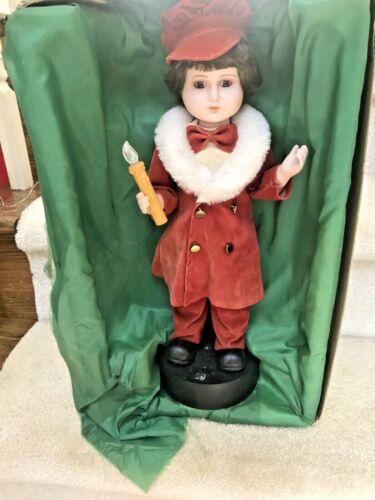 "Vintage 1986 Motion-ettes of Christmas 18"" Boy Caroler Telco"