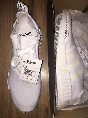 19dd411803d28 Adidas NMD R1 PK BZ0221 TRIPLE WHITE JAPAN Size 12.5 BRAND NEW DEADSTOCK DS