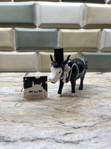 RARE Cow Parade ABRAHAM LINCOW #47891 Cow Figurine 2014