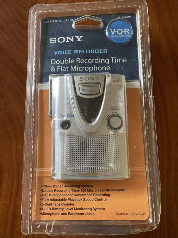 New (opened) SONY TCM400DV STANDARD CASSETTE TAPE VOICE RECORDER: TCM-400DV