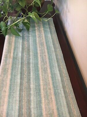 Grey Table Runners (Stripes in teal/ turquoise, gray and white Table Runner. Housewarming.)