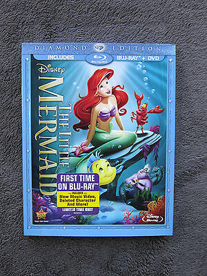 The Little Mermaid  Blu Ray Dvd  2 Disc Set  Diamond Edition   New  W Slipcover