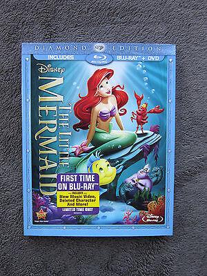 The Little Mermaid (Blu-ray/DVD, 2-Disc Set, Diamond Edition) *NEW* w/SLIPCOVER
