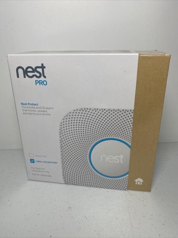 Nest Protect Smoke and Carbon Monoxide Alarm 2nd Gen Model S3004PWBUS SEALED