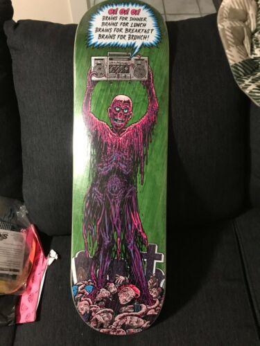 Strangelove Brains Skateboard Deck 8.5 Sean Cliver Misfits Braineater NICE!