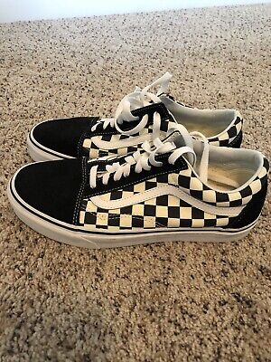 Vans 500714 Checkered Skate Sneakers Mens Size 8 - Excellent Condition