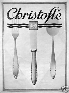 Publicit orfevrerie christofle en argent cuill re couteau fourchette - Fourchette en argent prix ...