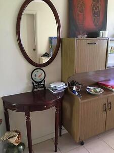 antique style hall side table and mirror West Pennant Hills The Hills District Preview