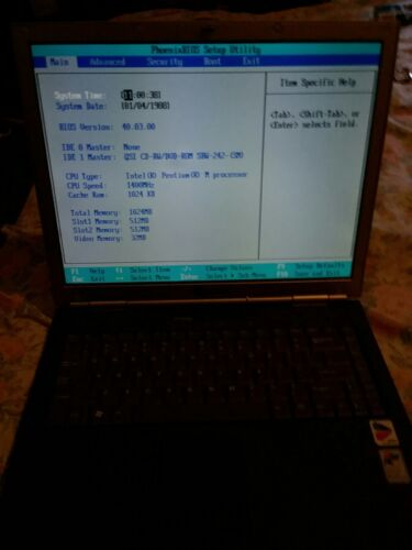 Gateway 450ROG Laptop Intel Pentium M 1.40GHz 1GB RAM No Hard drive