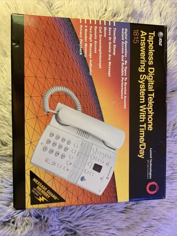 AT&T White Corded Tapeless Digital Telephone Answering System 1815 NIB RARE HTF