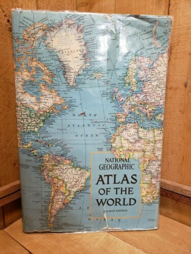 Vintage 1975 National Geographic Atlas of the World Hardcover 4th Edition