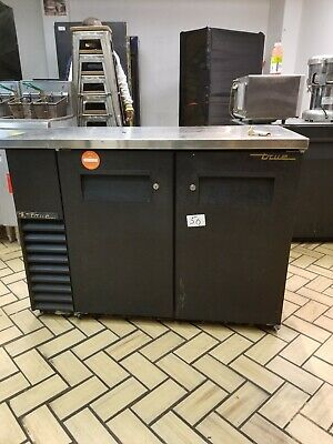Used True Tbb-2g 59 Black Doors Back Bar Cooler