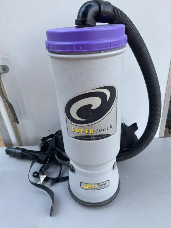 ProTeam Super Coach Backpack Vacuum Cleaner Model SCM-1282
